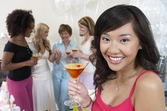 Young Woman Holding Cocktail Glass Royalty Free Stock Photography
