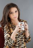 Woman holding a cup of tea Royalty Free Stock Photography