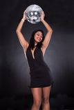 Young Woman Holding Disco Ball Royalty Free Stock Images