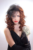 Young woman holding dollars money Stock Photos