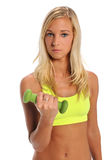 Young Woman Holding Dumbbell Royalty Free Stock Photography