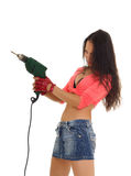 Young woman holding electric drill Stock Photography