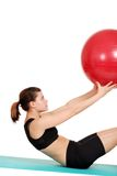 Young woman holding exercise ball Royalty Free Stock Photo