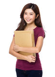 Young woman holding a file document Stock Images