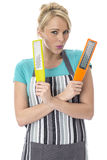 Young Woman Holding Food Graters Royalty Free Stock Photo