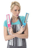 Young Woman Holding Food Graters Stock Images