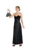 Young woman holding a handbag. Royalty Free Stock Photos