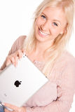 Young woman holding iPad Royalty Free Stock Photo