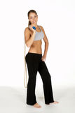 Young Woman Holding Jump Rope Stock Photos