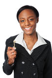 Young Woman With Holding Key Stock Photos