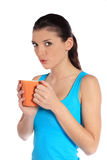 Young woman holding a mug Royalty Free Stock Photography