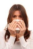 Young woman holding mug of tea Royalty Free Stock Photo
