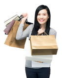 Young woman holding shopping bag Stock Photo