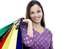 Young woman holding shopping bags Royalty Free Stock Photo
