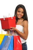 Young Woman holding shopping bags Stock Image