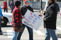 March for Our Lives Rally Worcester, MA March 2018 Stock Image