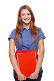 Young woman holding textbooks Stock Images