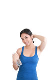 Young woman holding a water bottle Royalty Free Stock Photos