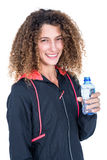 Young woman holding water bottle Stock Photography