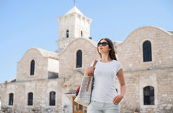 Young woman on a holiday vacation Stock Image