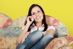 Young woman at home Royalty Free Stock Photos