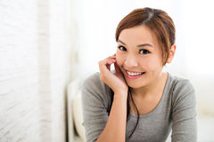 Young Woman at home Stock Photography