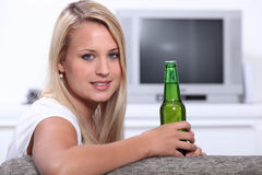 Young woman at home Stock Image