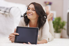Young woman at home Royalty Free Stock Photo