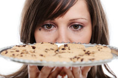 Young woman with homemade cookies Stock Images