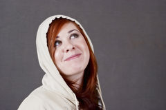 Young woman in a hoodie. Young woman wearing a hoodie Royalty Free Stock Photo