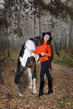 Young Woman And Horse Royalty Free Stock Photo