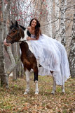 Young Woman And Horse Royalty Free Stock Image