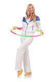 Young woman with hula hoop Stock Photography