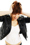 Young woman in hysterics Stock Image