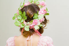 Young woman. Image of spring. Back view. Photo serie. Girl symbol of spring Royalty Free Stock Images
