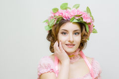 Young woman. Image of spring. Photo serie. Girl symbol of spring Royalty Free Stock Photo