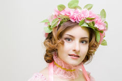 Young woman. Image of spring. Photo serie. Girl symbol of spring Royalty Free Stock Images