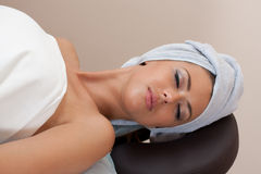 Young Woman In A Spa Salon Royalty Free Stock Photos