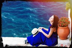 Young Woman In Greece Royalty Free Stock Images