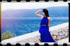 Young Woman In Greece Stock Photography