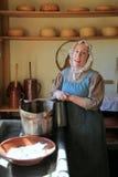 Young Woman In Period Dress, Reenacting Life Of A Pilgrim,Old Sturbridge Village,Massachusetts,September,2014 Royalty Free Stock Image