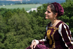 Young Woman In Renaissance Dress Stock Photography