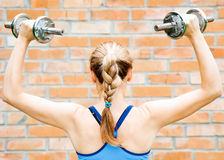 Free Young Woman In Sport Wear Exercising In Sport Club Stock Image - 20194981