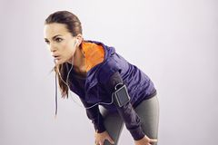 Free Young Woman In Sportswear Relaxing After A Jog Stock Images - 34919664