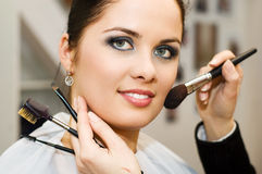 Young Woman In The Beauty Salon (shallow DOF) Stock Photo