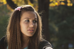 Young Woman In The Park. Royalty Free Stock Photos