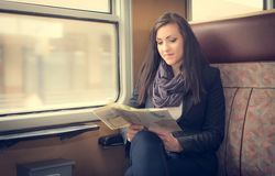 Free Young Woman In Train Royalty Free Stock Photos - 88553428