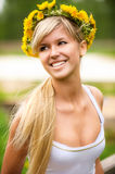 Young Woman In Wreath Stock Image