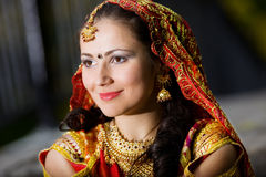 Young woman in indian dress Stock Image