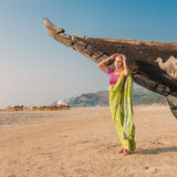 Young woman in indian sari Stock Images